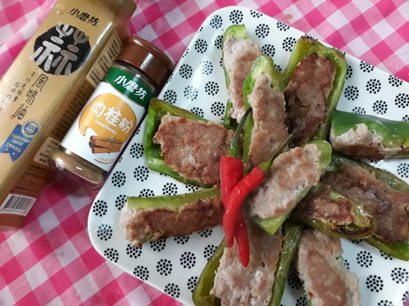 年節上大菜-青椒鑲金肉-肉桂風味