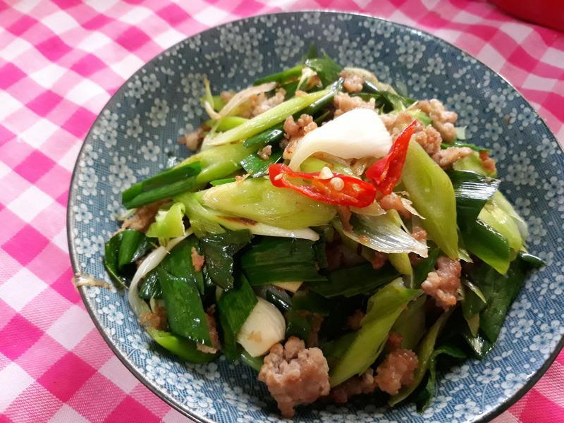 年節上大菜-清蒜肉末補運菜