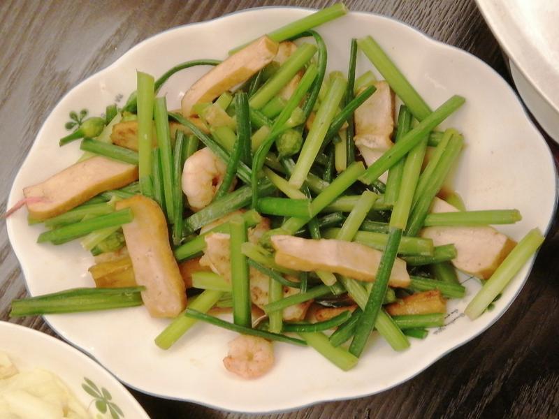 韭菜花豆干蝦仁