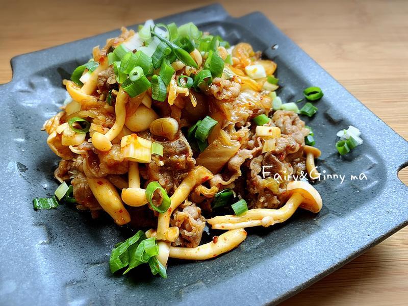 簡單快速的下飯菜~泡菜牛肉(便當菜)