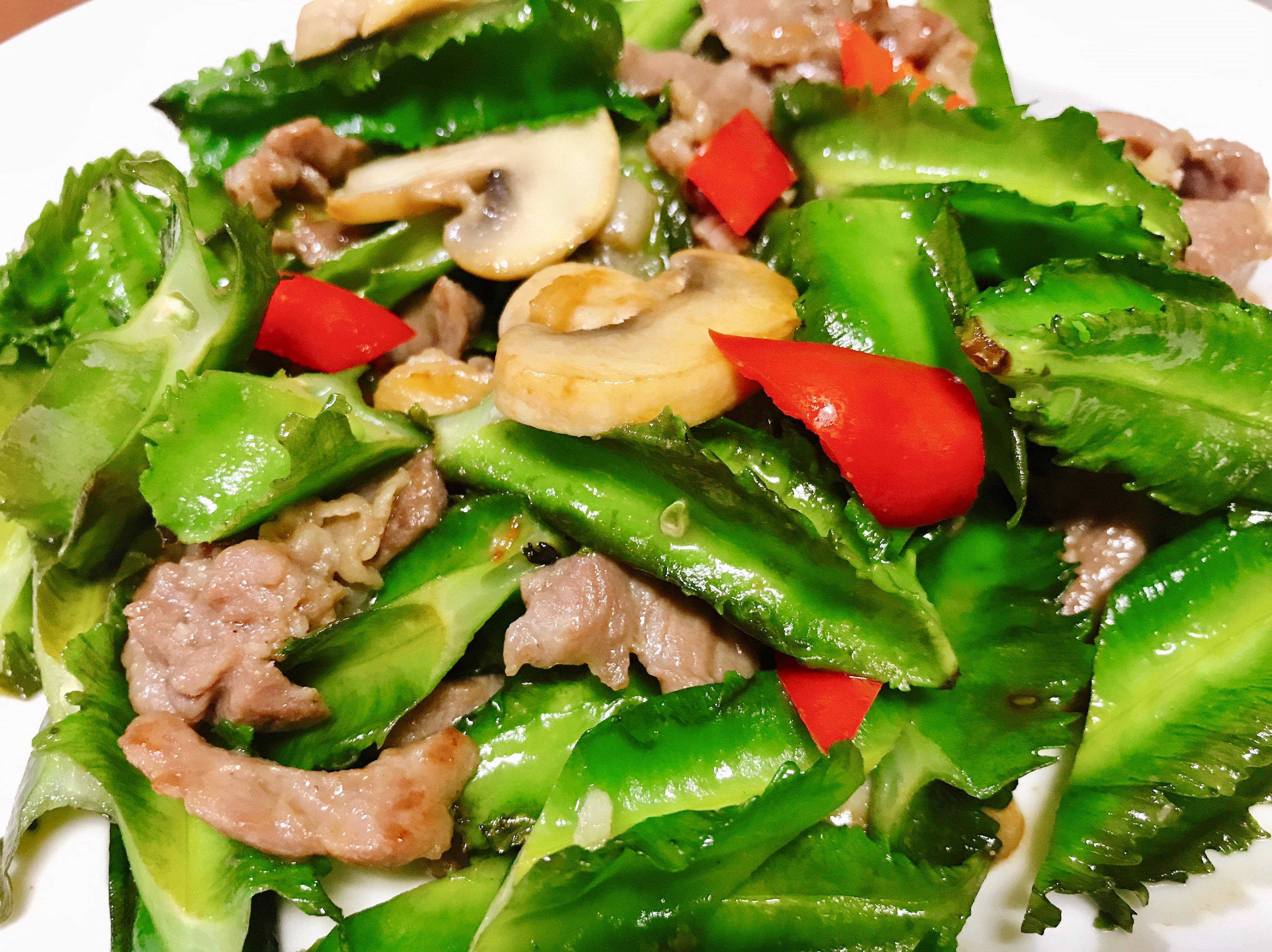 翼豆炒肉片