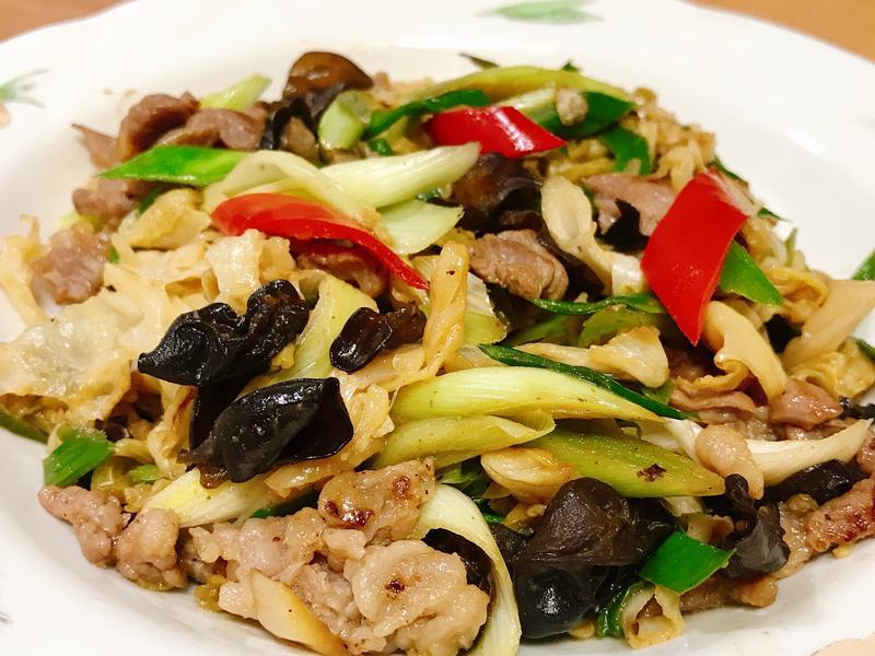酸高麗菜炒肉片