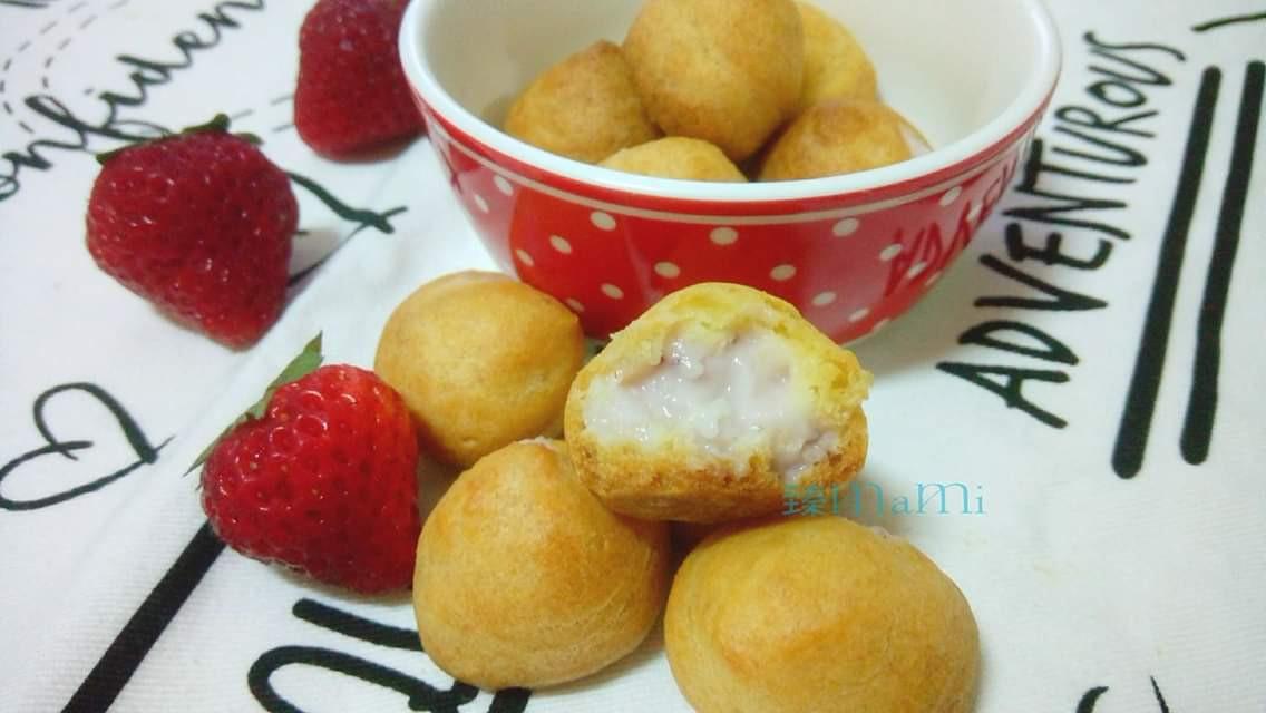 酥脆草莓小泡芙(烤箱&電鍋版)
