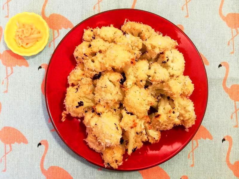 《千島醬》白花椰菜素炸雞~減油烤箱料裡
