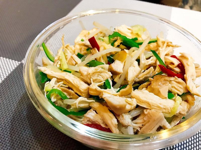 蜂蜜蒜味雞肉溫沙拉【烤箱料理】