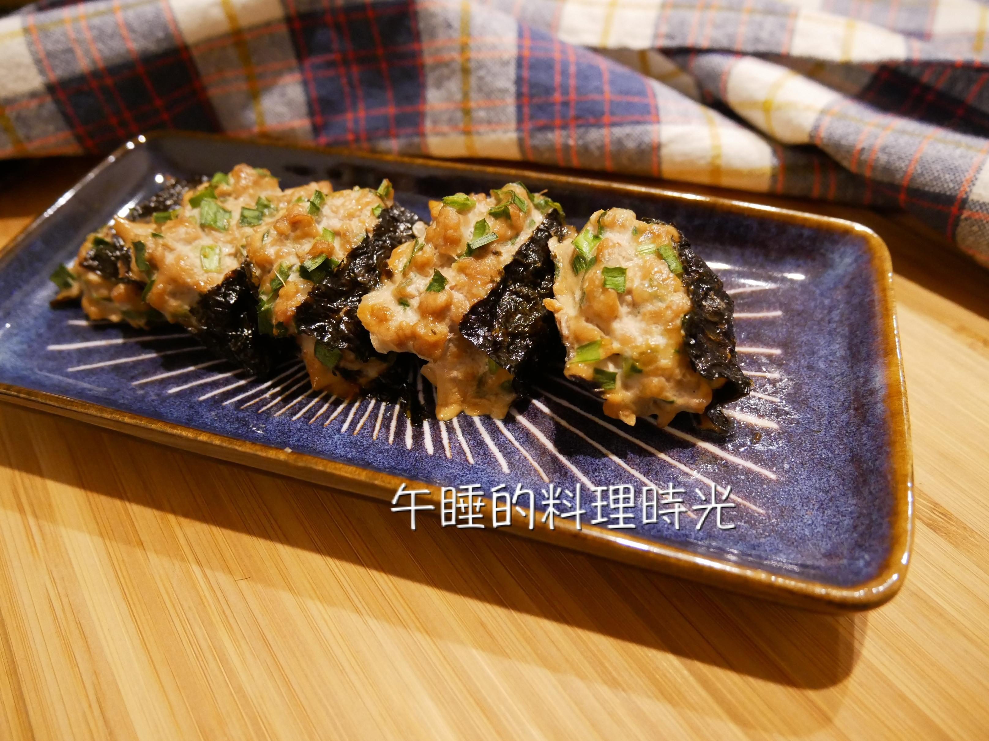 減脂餐料理-海苔韭菜肉餅