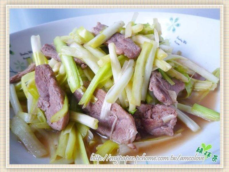 韭黃炒鵝肉