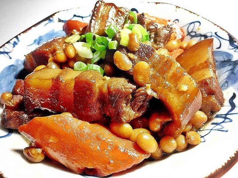 黃豆紅燒肉