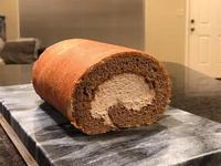 巧克力奶油蛋糕捲