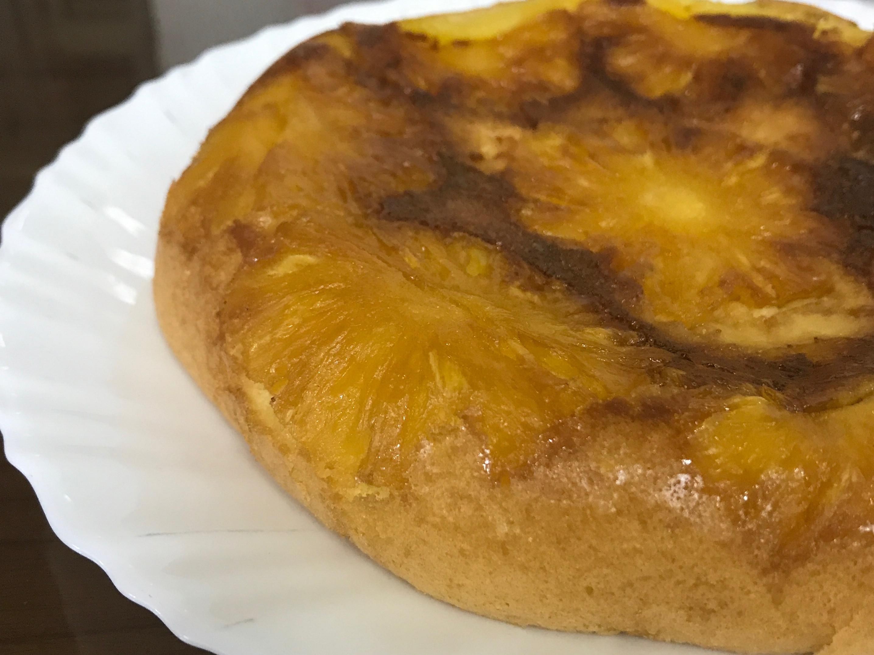 翻轉的鳳梨蛋糕~免烤箱,電子鍋料理