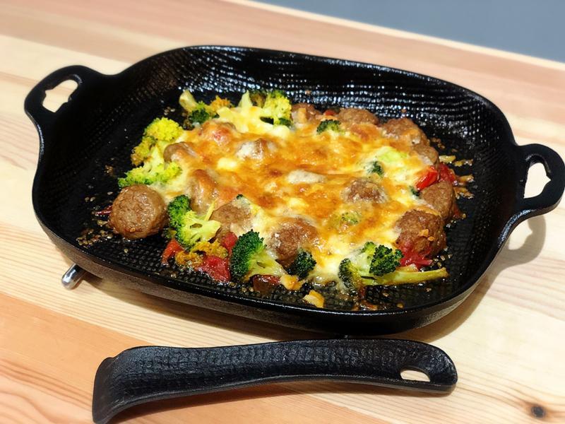 焗烤蒜味茄汁瑞典肉丸