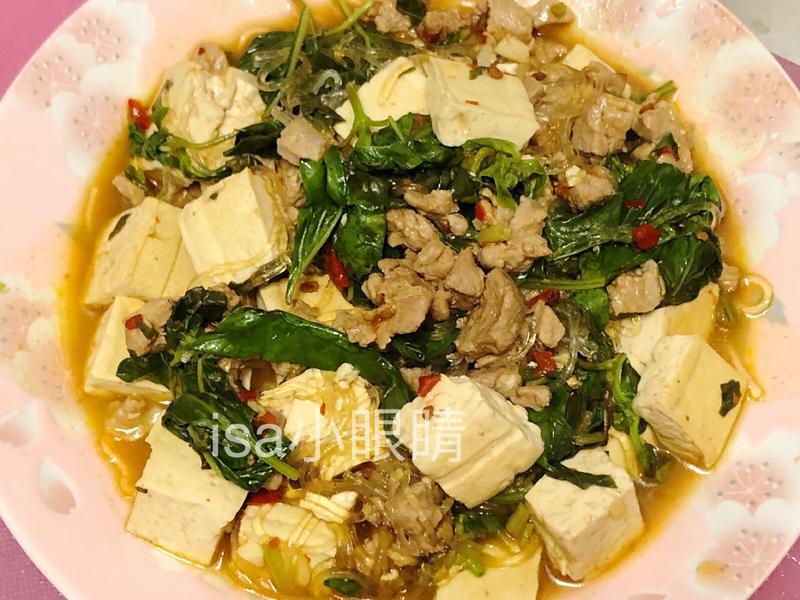 塔香豆腐粉絲煲