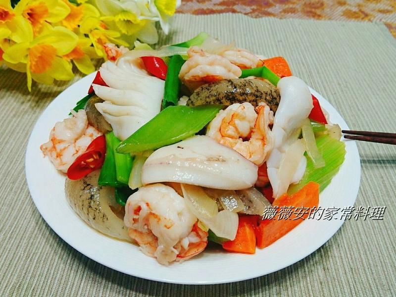 家常菜~炒三鮮