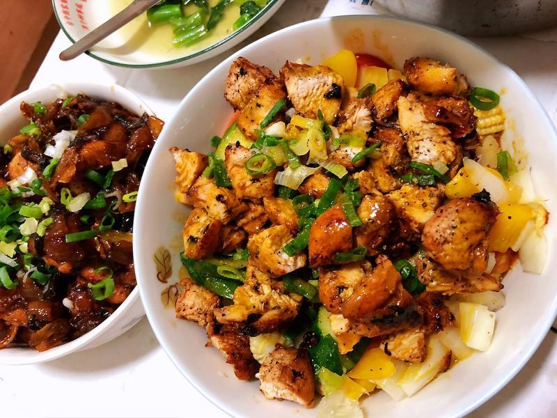 [微波食譜]蜂蜜芥末雞肉溫沙拉 可水煮