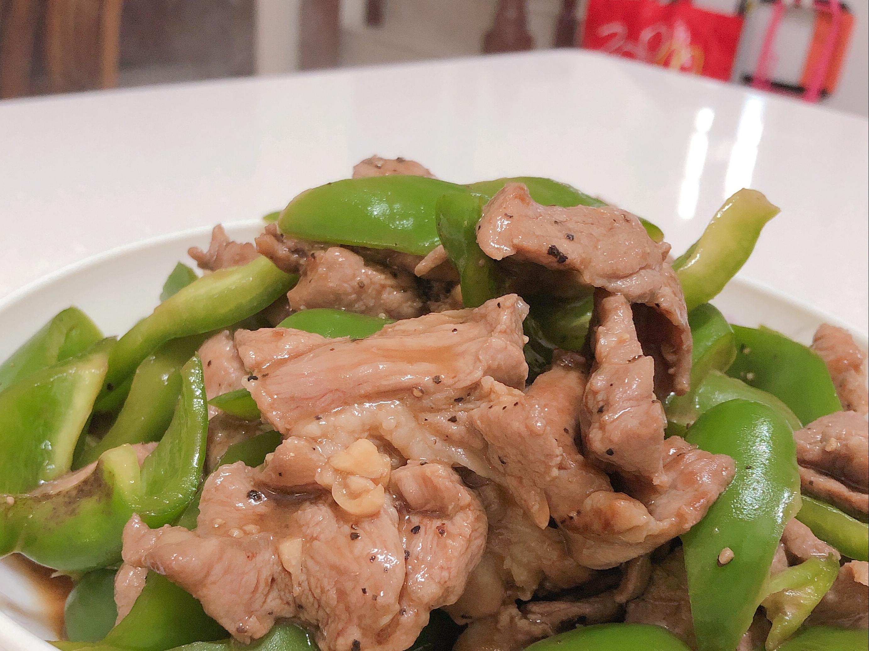 青椒炒肉片