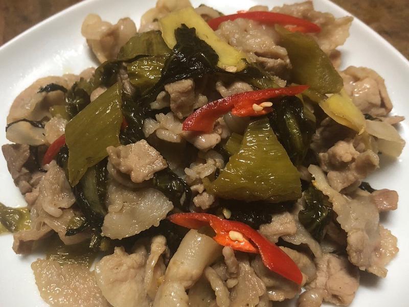 日曬酸菜燒肉片
