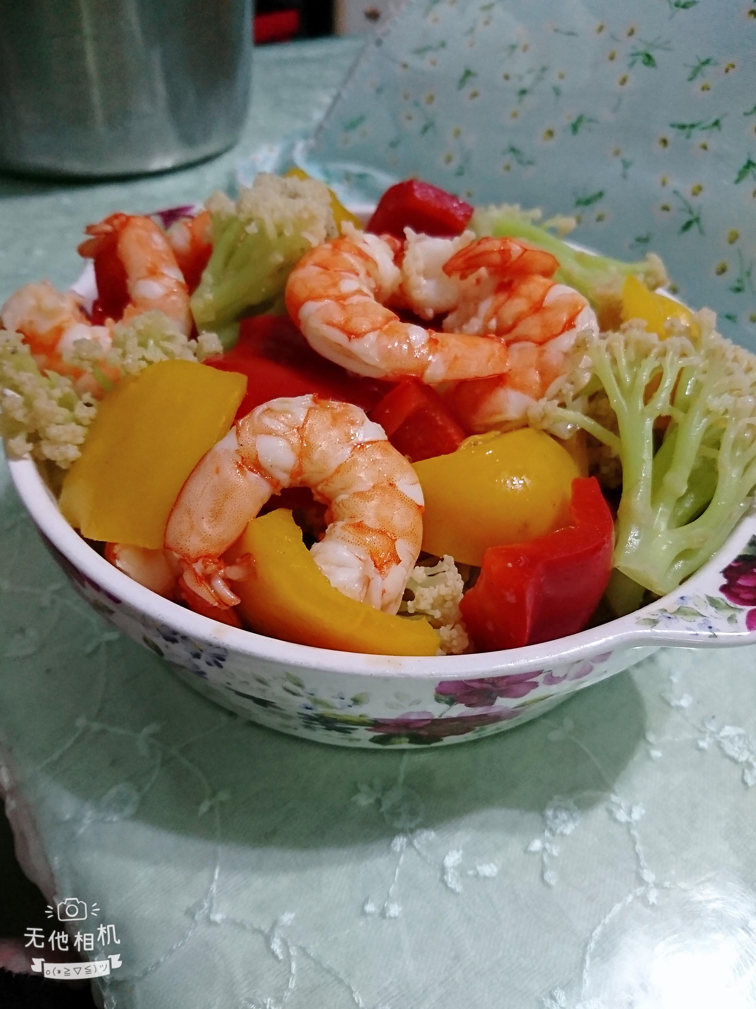 鮮蝦拌鮮蔬