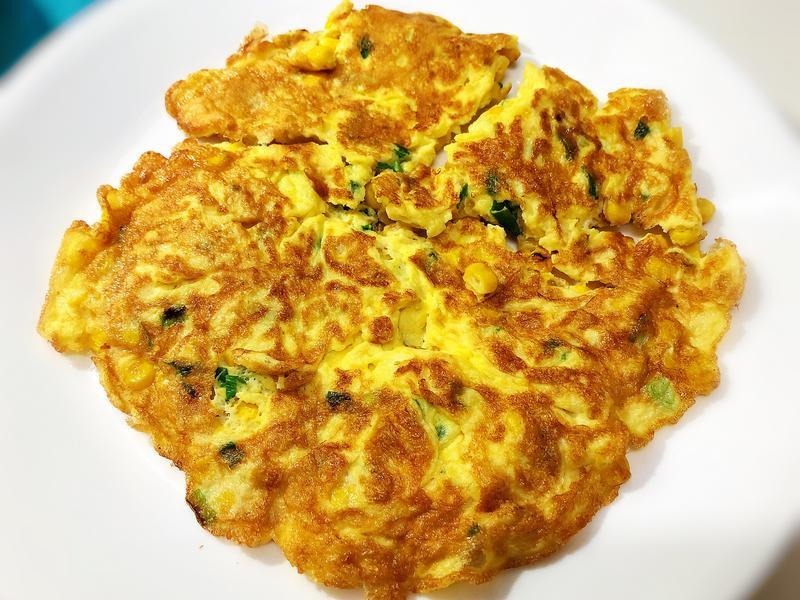 玉米蔥花蛋