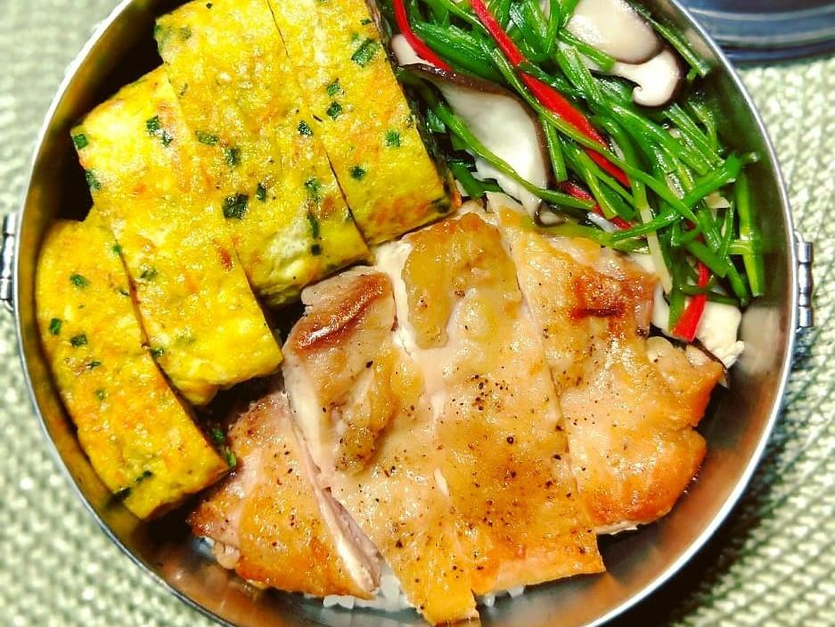 煎椒鹽雞腿排(便當菜)