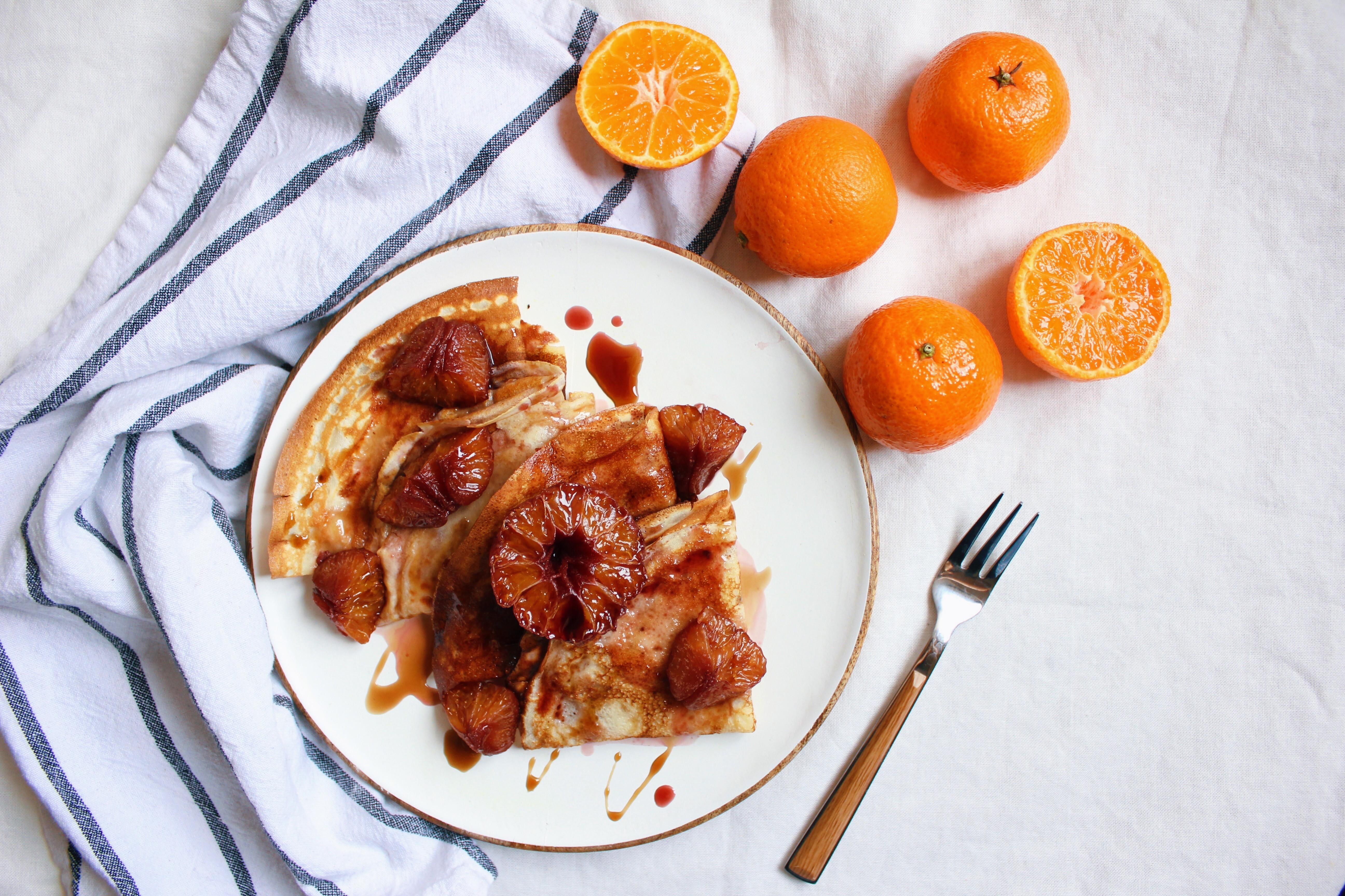 香料紅酒燉橙子鬆餅