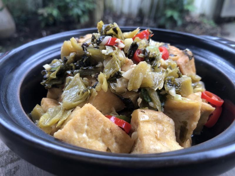 日曬酸菜豆腐