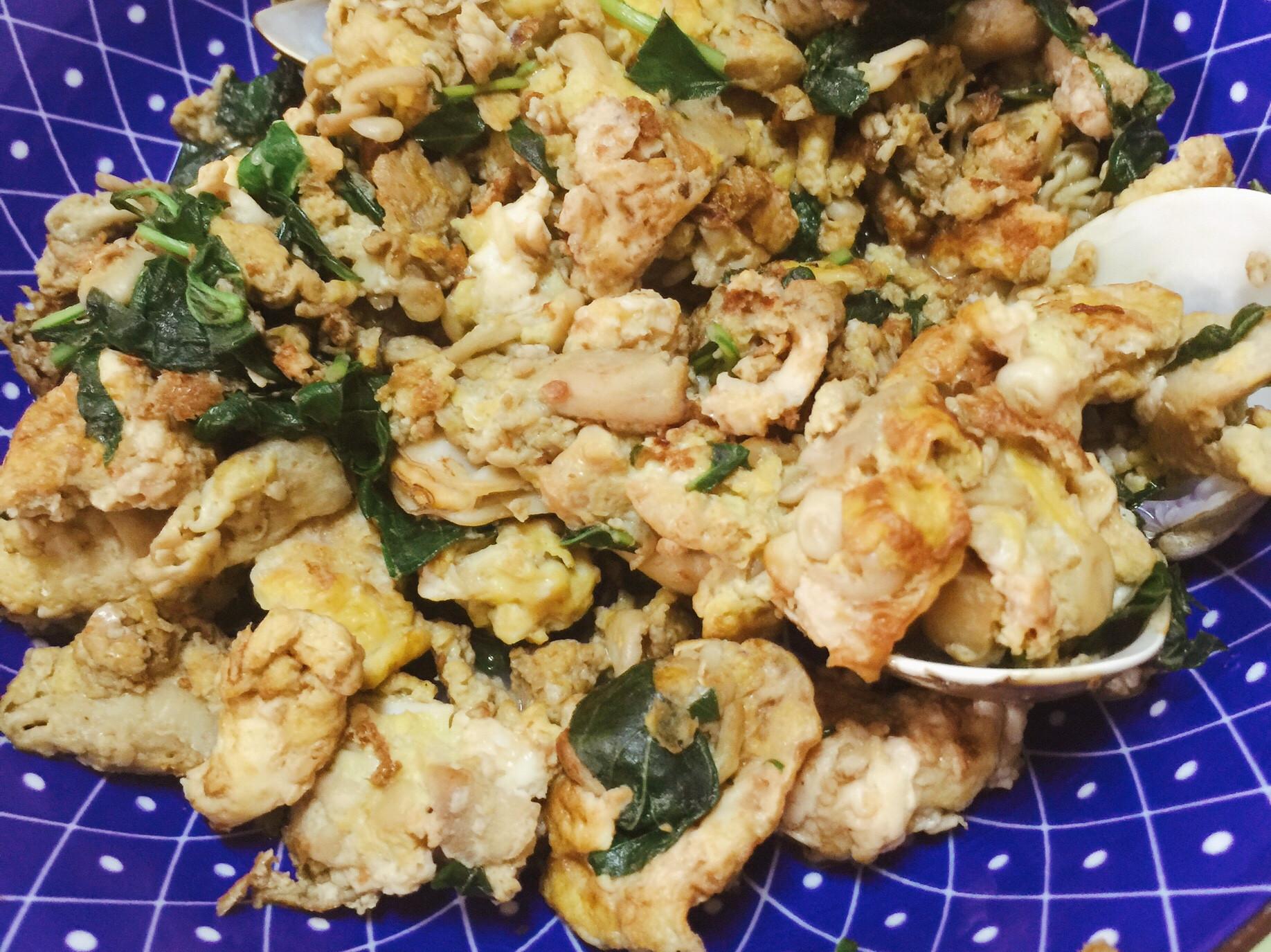 九層塔珊瑚菇炒蛋
