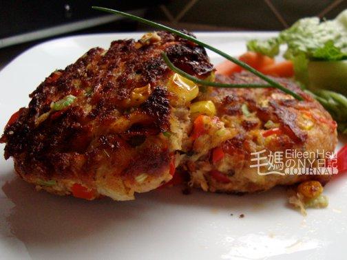 剩菜變身 ~ 鮭魚煎餅