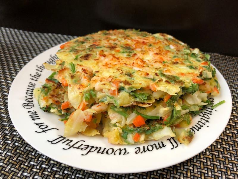 高麗香菜鮮蝦煎餅