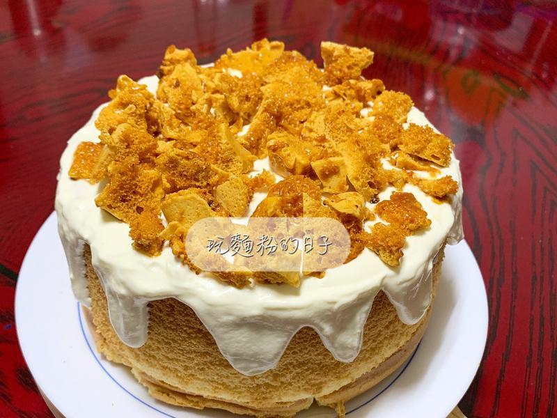 焦糖脆片戚風蛋糕