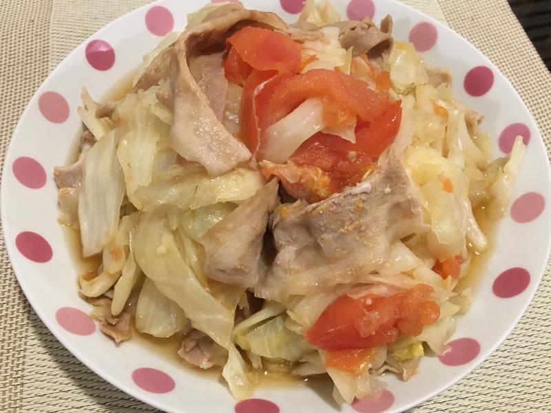豬肉番茄高麗菜(電鍋版)
