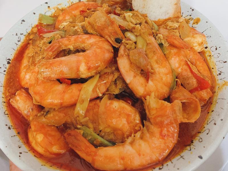 香濃。泰式咖哩蝦