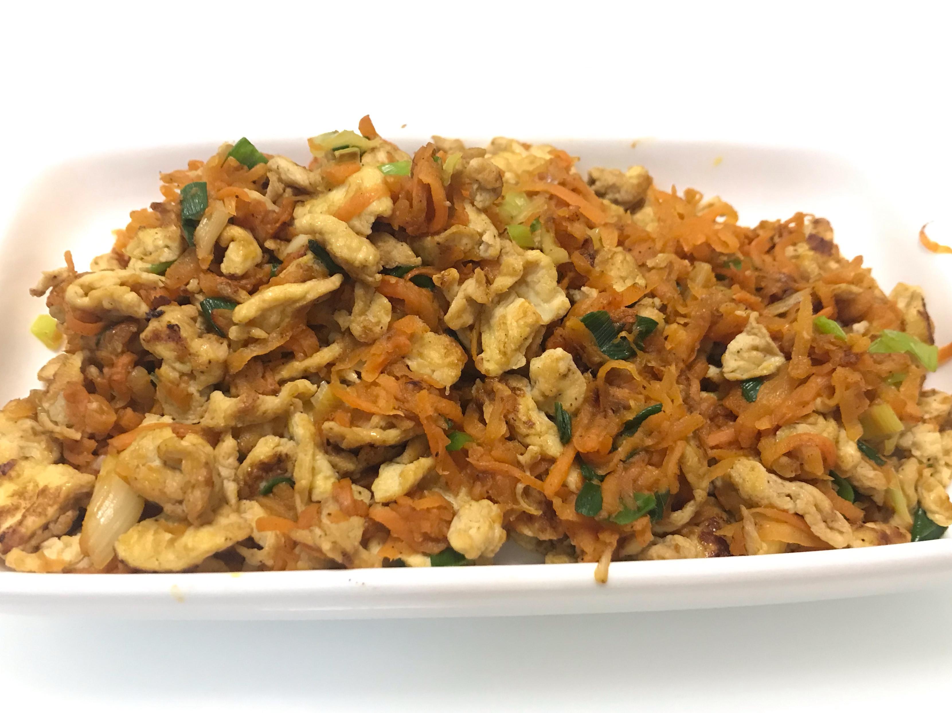 👩🏻🍳紅蘿蔔炒醬油蛋-簡易家常菜