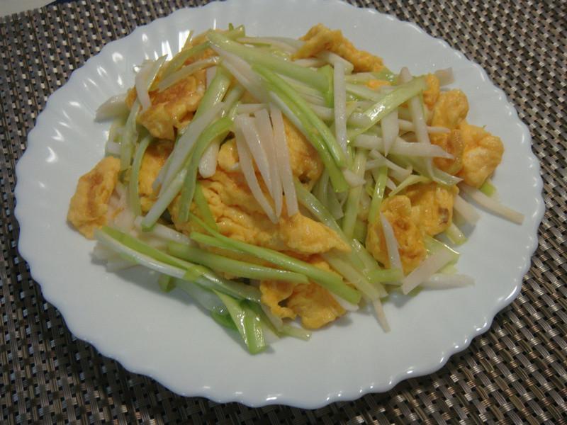 韮黃筍絲炒蛋
