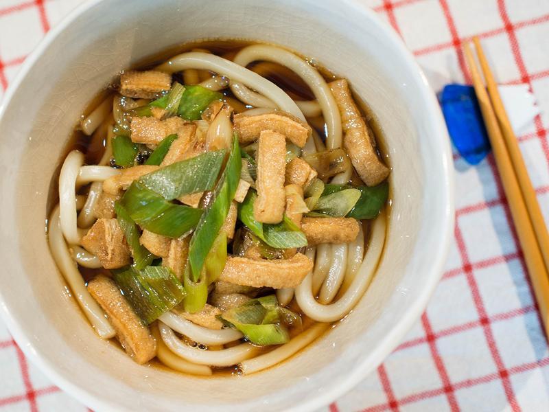 炸豆腐皮蔥烏龍麵