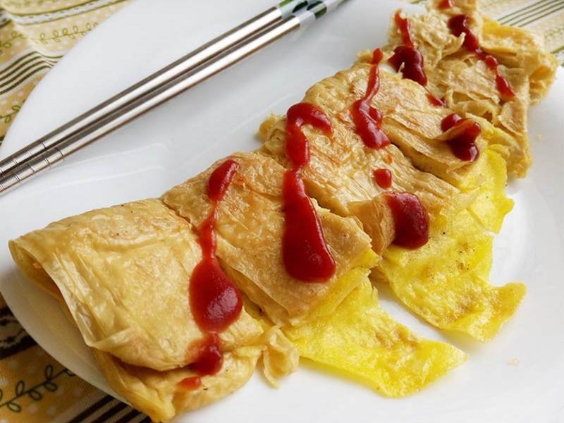 豆皮蛋餅〞(低醣早餐)
