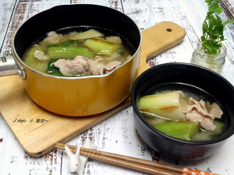 大蔥豬肉味噌湯 (感冒簡單湯)