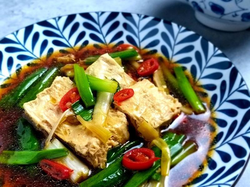 五分鐘蔥燒豆腐/ 凍豆腐DIY