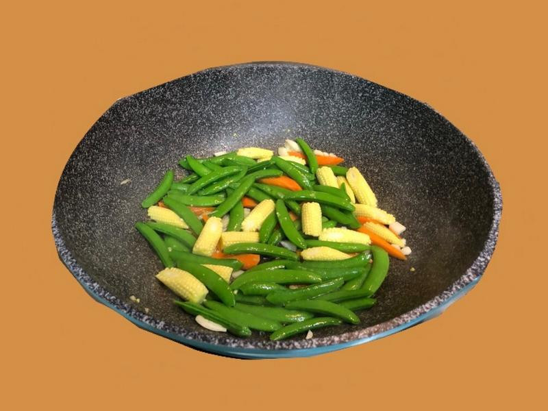   陳媽媽   甜豆炒玉米筍