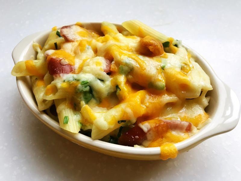 奶油起司菠菜意大利麵
