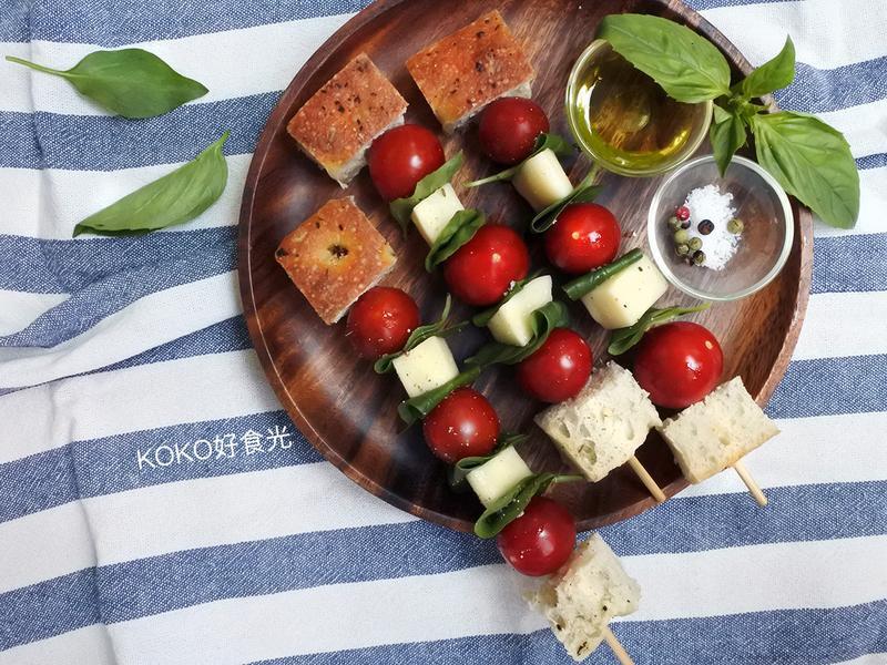 義式卡布里沙拉麵包串(派對野餐開胃菜)