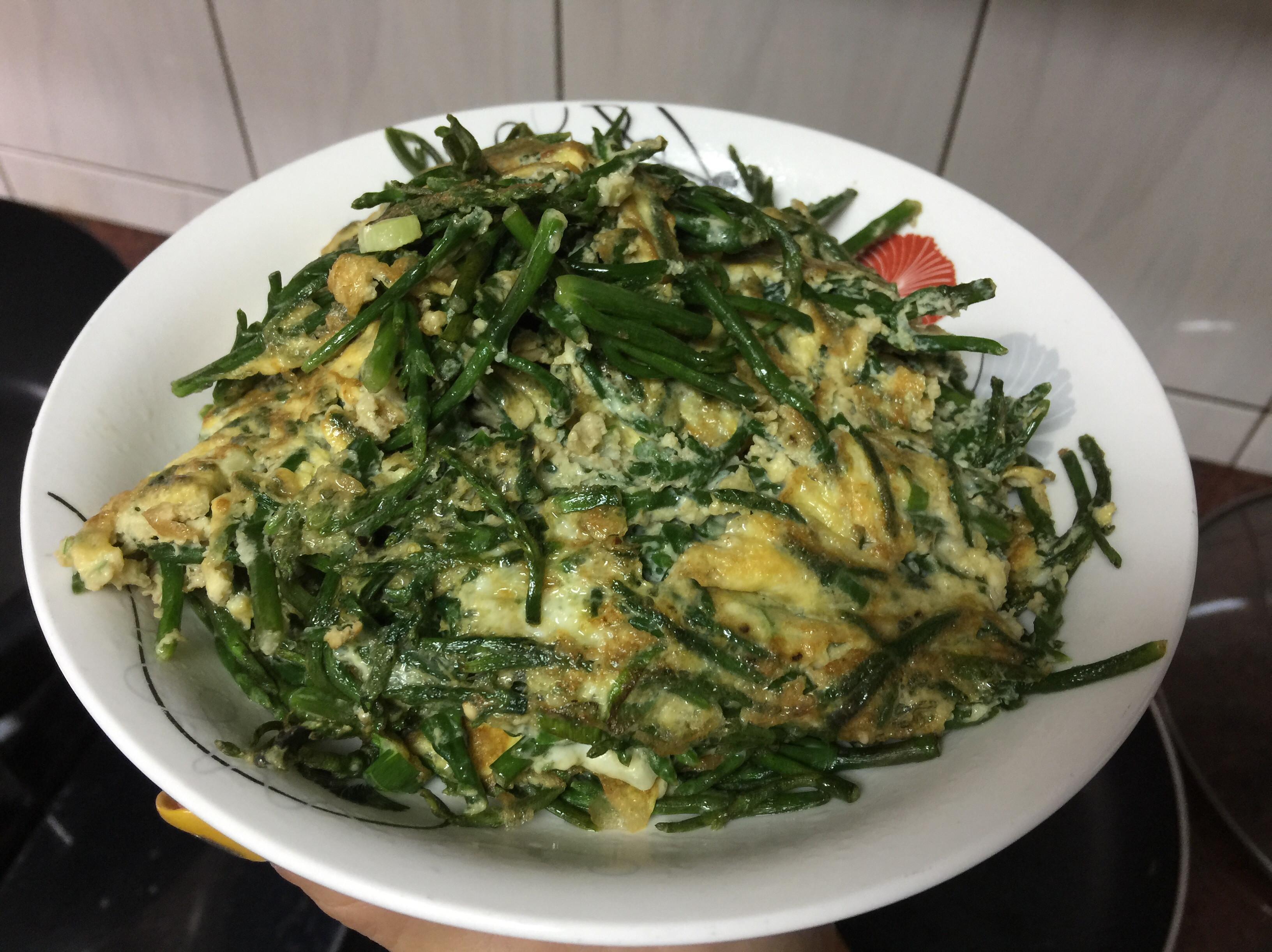 海蘆筍煎蛋