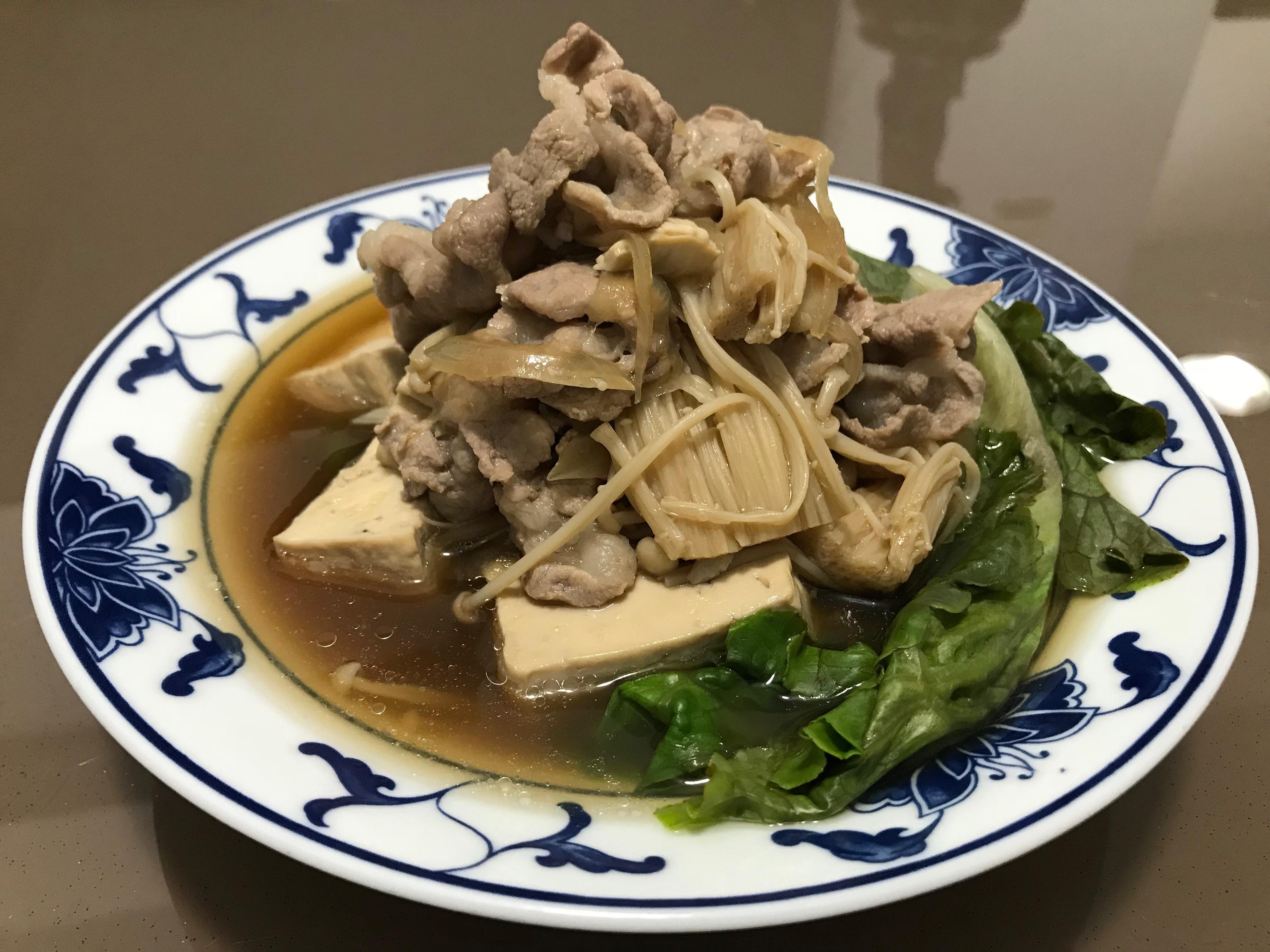 一鍋到底--->日式燉煮豬肉豆腐
