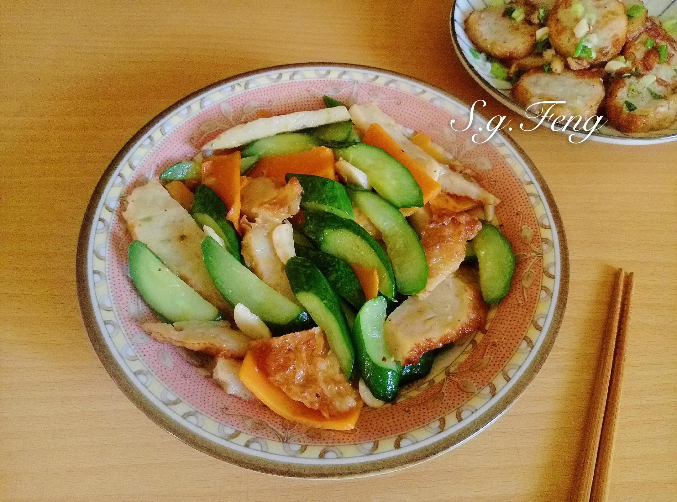 雞卷炒小黃瓜
