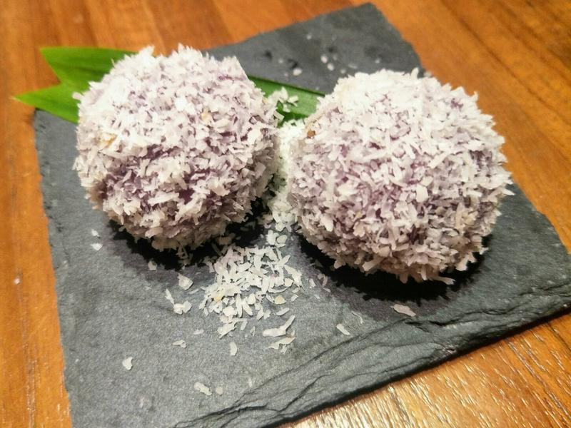 南洋料理達人劉明芳--紫地瓜椰糖麻糬