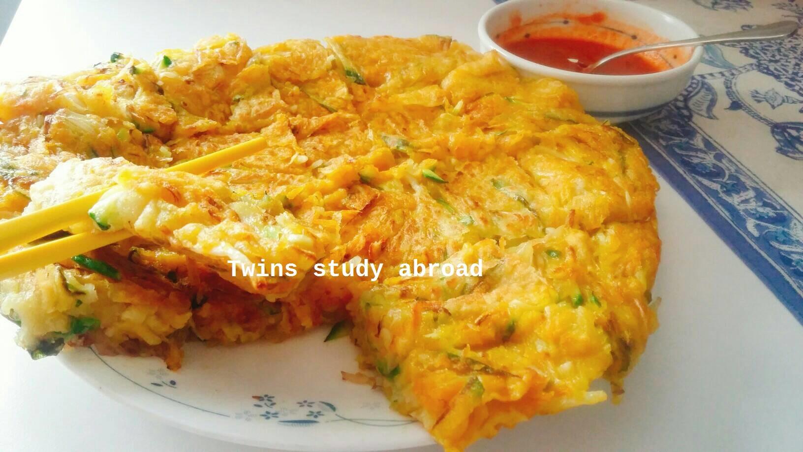 黃金豆芽櫛瓜煎餅