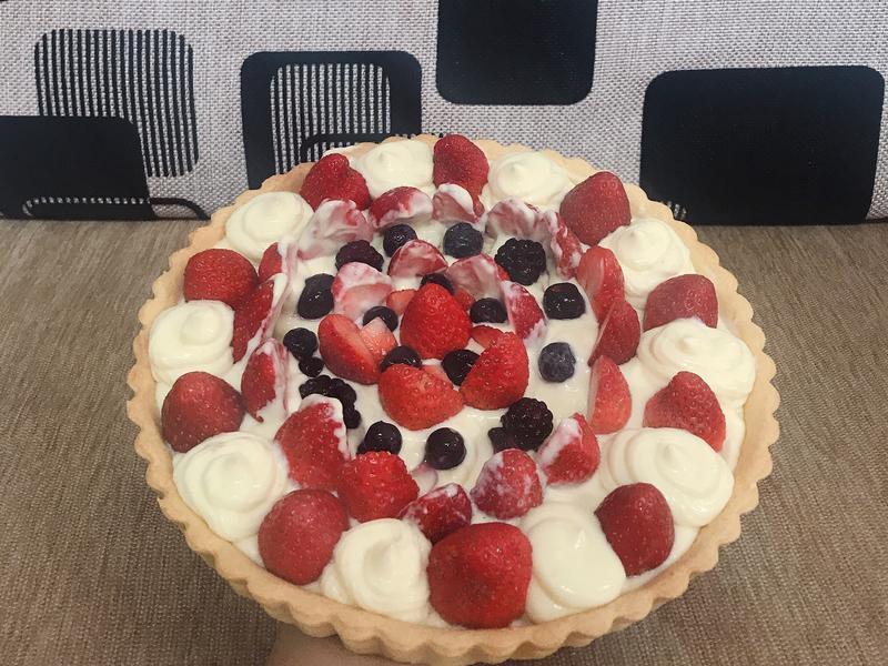 草莓卡士達派🍓