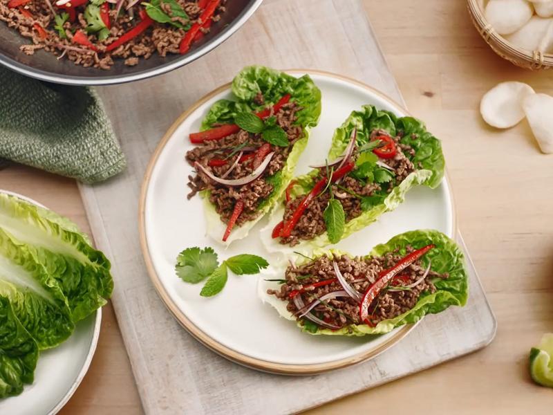 泰式牛肉萵苣沙拉