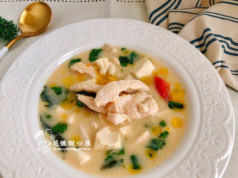 豆漿雞柳白玉味噌湯健身好料理