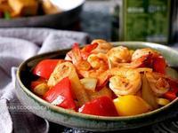 彩椒蝦球 - 健康清爽的美味