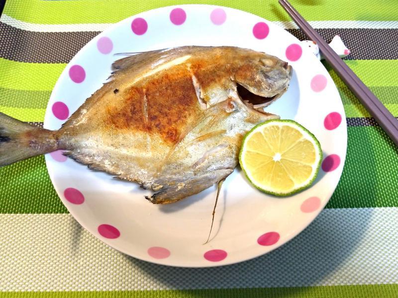 香酥乾煎鯧魚